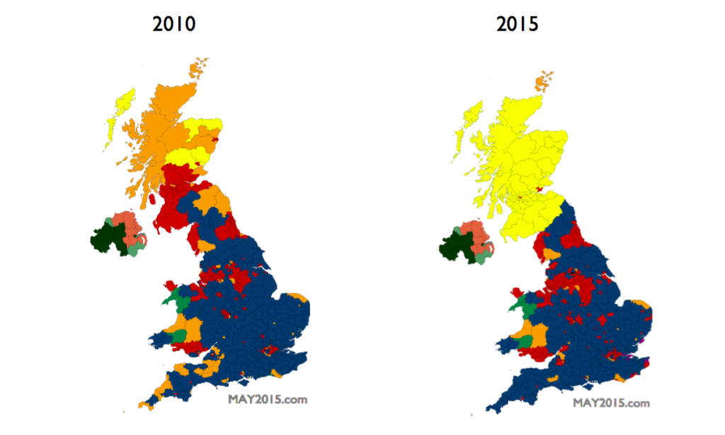 scotland is set to be painted in snp yellow in may